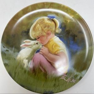 Tender Moment Children and Pets Collectors Plate